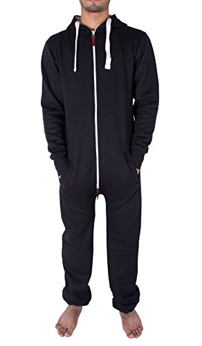 a5b99a565955 Noroze Mens Hoodie Jumpsuit Onesie One Piece Pajamas (Large