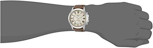 Fossil Hybrid Smartwatch - Q Grant Dark Brown Leather FTW1118