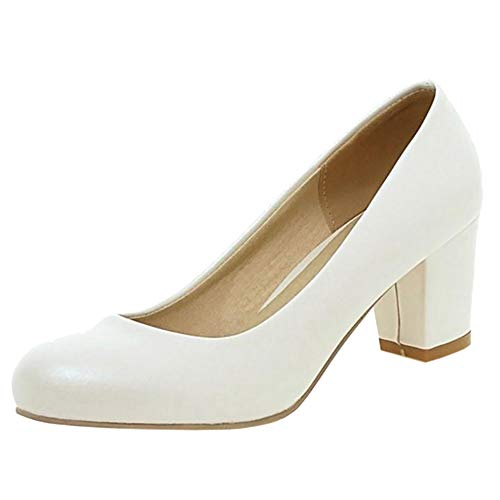 Low Shoes Heel White 1 Melady Basic Pumps Women nXpxtFZE