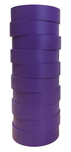 TradeGear Electrical Tape PURPLE MATTE - 10 Pk Waterproof, Flame Retardant, Strong Rubber Based Adhesive, UL Listed - Rated for Max. 600V and 80oC Use - Measures 60' x 3/4