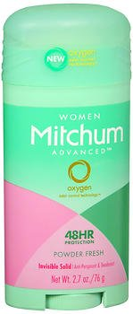 Mitchum Women Advanced Anti-Perspirant & Deodorant Invisible Solid Powder Fresh - 2.7 oz, Pack of 3 REVLON INC BEAUTY CARE