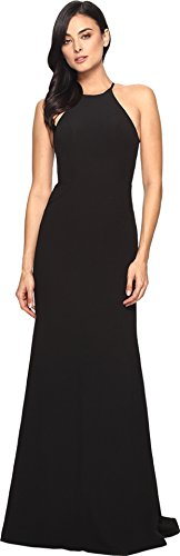 Black Faviana Dress (Faviana Women's Crepe Halter w/ Strap Sides S7913 Black Dress)