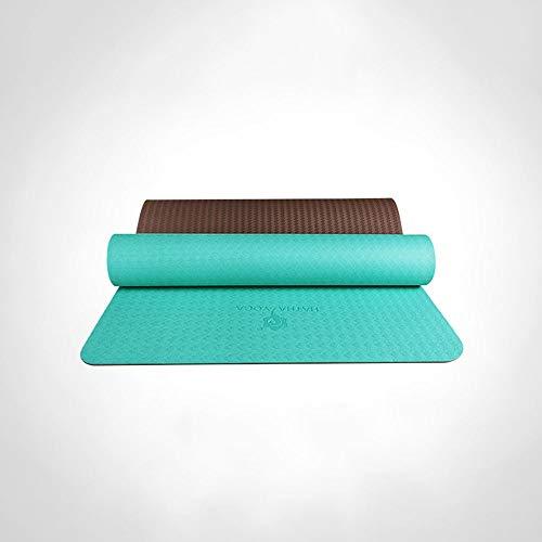 LULIN Non-Slip Yoga mat Double-Sided Non-Slip Male Fitness mat, Yoga mat mat 360 Degree Non-Slip Texture Design, Natural Rubber Material