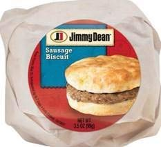 Jimmy Dean Sandwich, Sausage Biscuit, Individually Wrapped, 3.5 oz. (12 count)