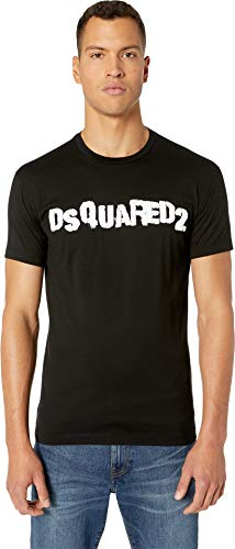 DSQUARED2 Men's Punk Logo Cool Fit T-Shirt Black Large