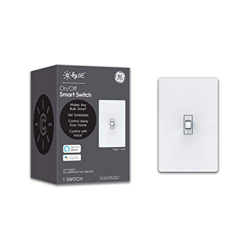 C by GE On/Off Toggle Style Smart Switch - Works with Alexa + Google Home Without Hub, Single-Pole/3-Way Replacement, White