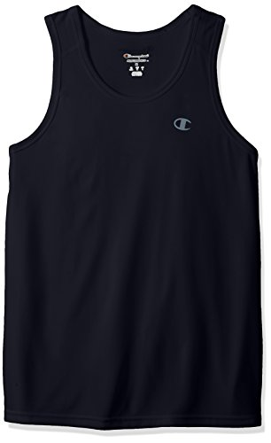 Champion Men's Double Dry Tank Top with FreshIQ, Navy Heather, 2XL