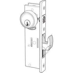 Adams Rite MS1850SN-410-628 Aluminum Door Deadlocks, 9'' Length