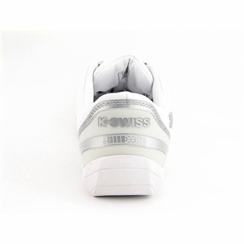 K-SWISS Womens Court Spin (White/Silver 5.5 M) tYlI2x