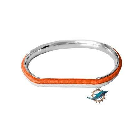 NFL Miami Dolphins Hair Tie Bangle Bracelet