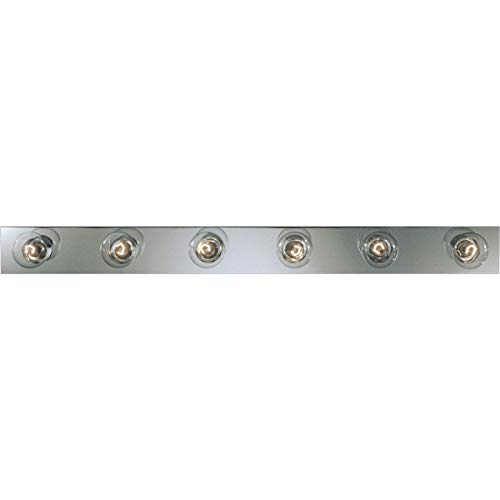 Progress Lighting P3117-15 Basic Broadway Lighting Strips That Use Fewer Lamps on 7-1/2 Inch Centers and UL Listed For Ceiling Mounting with 25 Watt Lamps, Polished Chrome