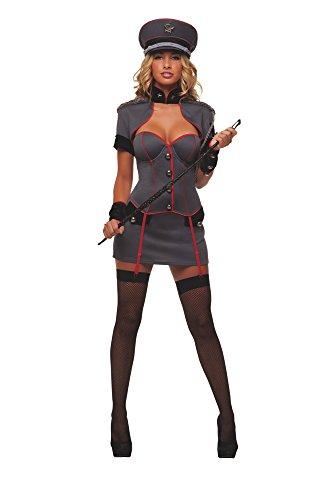 Starline Sexy Naughty General Women's 4 Piece Costume Set, Grey, Small]()