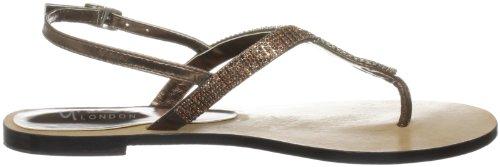 Unze Evening Slippers L18257W - Sandalias para mujer Marrón