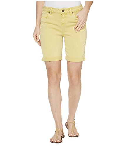 すずめロイヤリティ保安[リヴァプール] Liverpool レディース Corine Rolled-Cuff Walking Shorts in Pigment Dyed Stretch Slub Twill in Butterscotch パンツ [並行輸入品]