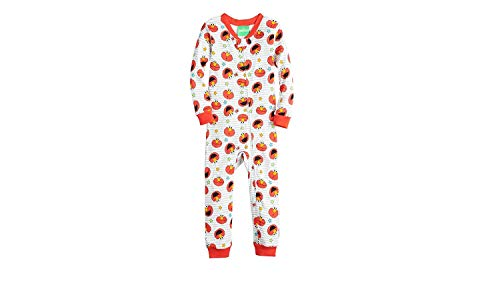 Sesame Street Boys' Toddler Elmo Cotton Onesie, Red, 2T