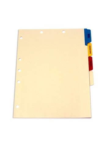 Manila Medical Divider Set, Side Tab, Side Tab, Preprinted (Box of 100 Sets)