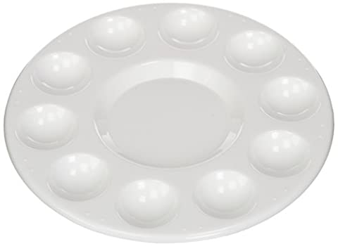 Generic Round Professional Plastic Paint Platte Tray White (Paint & Wall Covering Supplies)