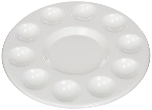 Generic Round Professional Plastic Paint Platte Tray White