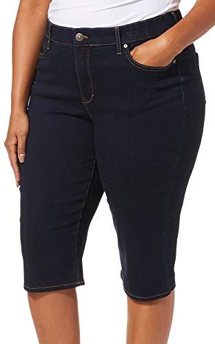 Gloria Vanderbilt Women's Plus Size Comfort Curvy Skinny Skimmer, Rinse Noir, 18W ()