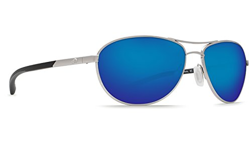 Costa Del Mar KC Sunglasses, Palladium, Blue Mirror 580P - Kc Costa Sunglasses