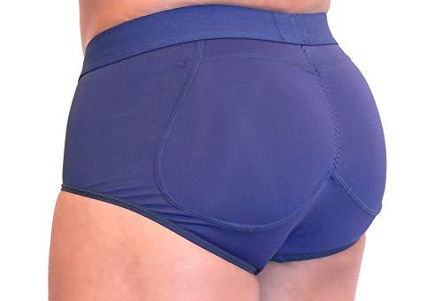 ButtboosterLLC.com Briefs Men's Padded Enhancing Spandex Underwear SMB Navy Blue Medium