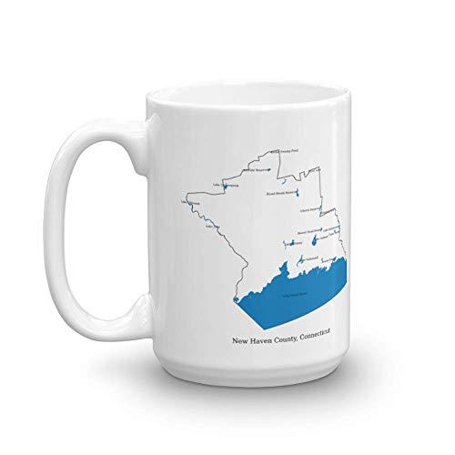uscountymaps New Haven County, Connecticut map Mug (15oz)