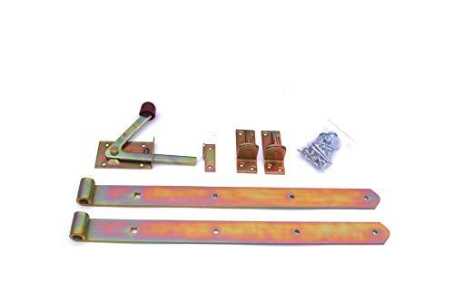 Zauntür-Beschlagsortiment mit Ladenbändern & Gartentorfalle