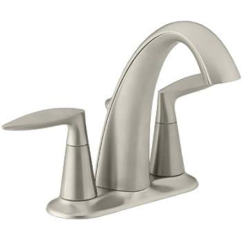 KOHLER K-45100-4-BN Alteo Centerset Lavatory Faucet ...