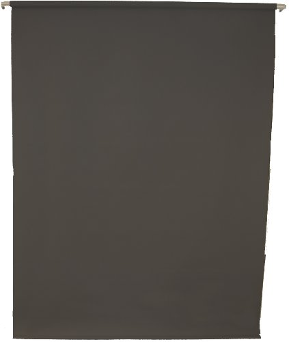 5'X8' Wall-Mounted Black Rollup Background System ID photos