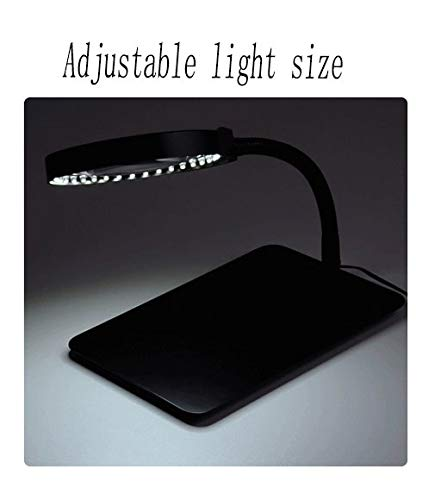 Desktop Magnifying Glass, Weight Type 10 Times Magnifying Glass, with 36 LED Lights, Optical Glass Lens, Suitable for Maintenance Work Repair Table Welding Reading by Zztfdj (Image #3)