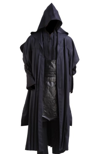 Star Wars Anakin Skywalker Adult Costume Black Version,Men-Large (Dark Jedi Costume)