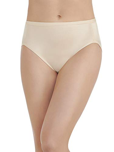 - Vanity Fair Women's Body Caress Hi Cut #13137, Damask Neutral, 6
