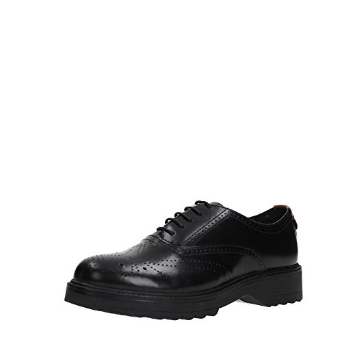 Black Scarpe WL172560 Stringate Inglese Brogue Donna Bridge Wrangler Stile Nero wvXO76OzWq
