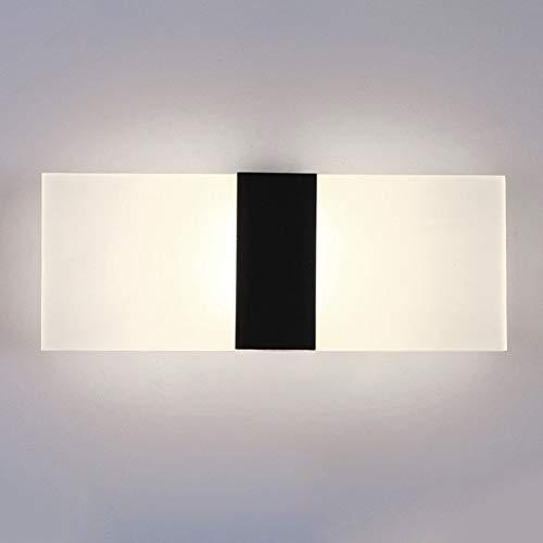 Luz de Pared LED, Moderno Acrílico Aplique – Entrada Luz Lámpara de Noche Fondo Decorativo Luces – con Plateado/Negro…