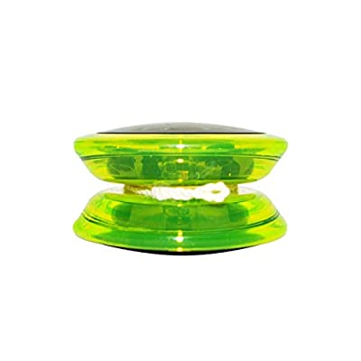 Yomega Fireball Saber-Wing Flared Shaped Yoyo with Starburst Response System - Supreme Quality Medium Yo-Yo for Kids & Adults + Learn DVD + Travel Bag! (Black/Green): Sports & Outdoors