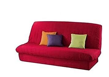 Housse Clic Clac Noir Ou Rouge Avec Bande De Socle Matelassée 185 X 200 Rouge