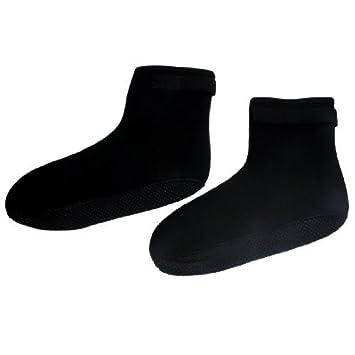 Par Negro Puntos Decoración Gancho Sujetador del Lazo de la Banda de Neopreno de Buceo Calcetines tamaño XL: Amazon.es: Deportes y aire libre