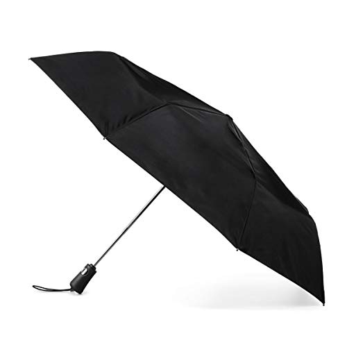 Totes Titan Compact Travel Umbrella - UV Sun Protection, Windproof, Waterproof, One Touch Auto Open/Close