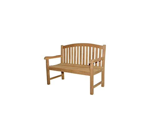 Аndеrsоn Tеаk Patio Outdoor Garden Premium No Cushion Chelsea 2-Seater Bench