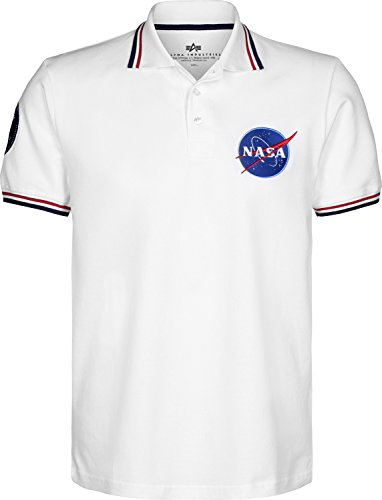 Nasa Men Industries Shirt Polo Alpha Blanc xz1FwnC6Cq