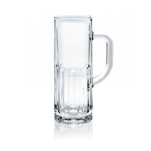 Ocean Glass Beer Mug   Set of 6, Clear, 365ml
