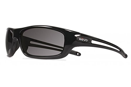 Revo Guide S RE 4070 01 GY Polarized Wrap Sunglasses, Black/Graphite, 63 - Sunglasses Revo Men