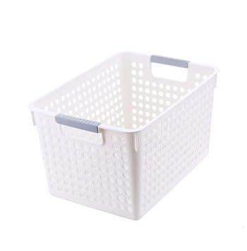 Bandejas de almacenamiento cesta de plástico para cocina, baño organizador