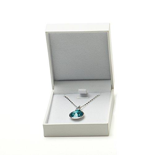 Oirlv White Earring Pendant Gift Box,Velvet Jewelry Box ()