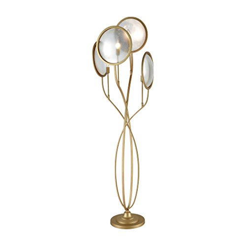 - Dimond Lighting D3372 Le Style Métro - Four Light Floor Lamp, Gold Finish with Antique Mercury Glass
