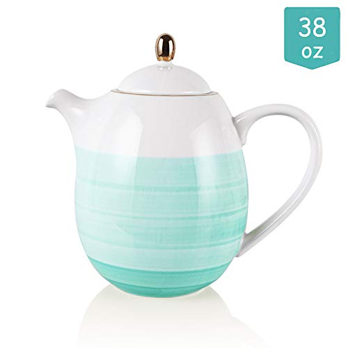 Sweejar Ceramic Teapot with Infuser and Lid