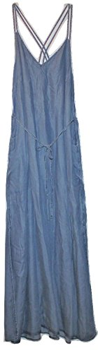 Gap Women's ChambrayTencel Lyocell Maxi Dress w/ Double Cami Straps (XXL) (Gap Blue Dress)