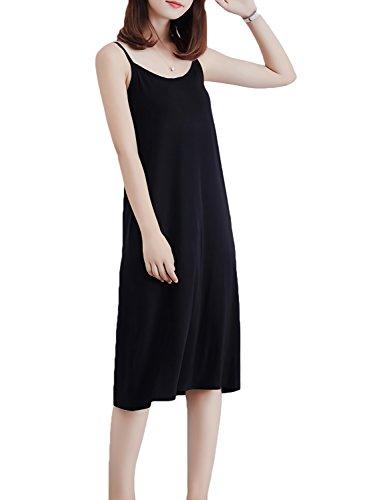 接続されたスクレーパー最大化する[アズルテ] キャミワンピ レディースファッション 選べる着丈 ひざ丈 マキシ M~L ルームウェア インナー キャミソール ワンピース