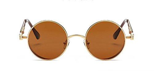 en métallique inspirées cercle retro Lennon de Tranche de rond Thé polarisées A du lunettes soleil style vintage qnzPYx4v