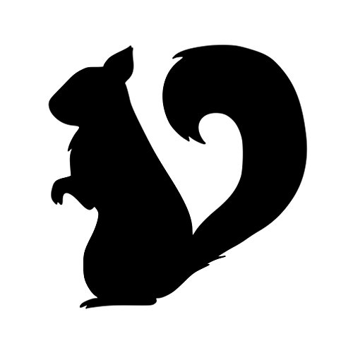 Squirrel Red Flying (Minglewood Trading Squirrel Vinyl Decal Sticker - Tree Ground Rodent Flying Chipmunk Marmot 5